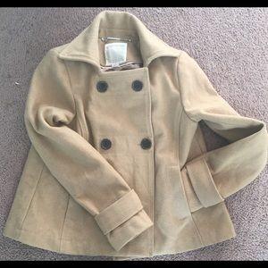 XS Old Navy Women's Peacoat Jacket Camel Color